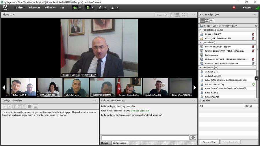 Üzümlü Gümrük Müdürlüğü Personeliyle Moral Motivasyon Video Konferans Toplantısı Gerçekleştirildi